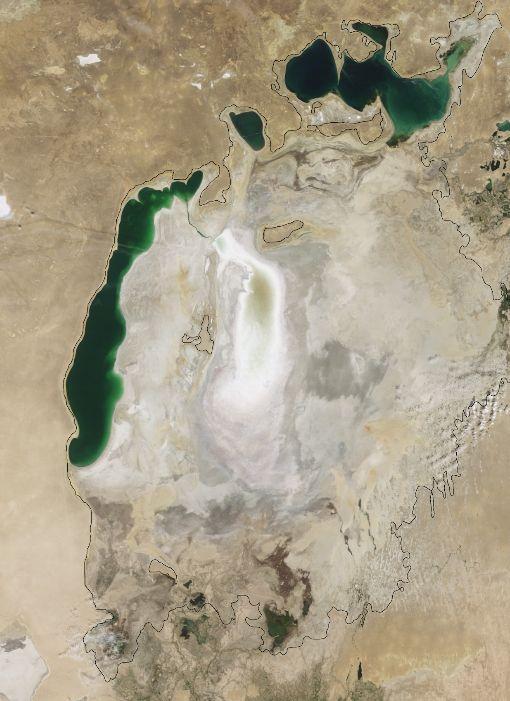 Остатки Аральского моря, август 2009 года
