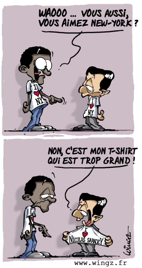 Обама и Саркози в одинаковых футболках