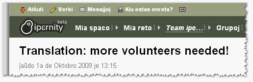 Хотим ещё добровольцев, — говорят в Ипёрнити (Ipernity)