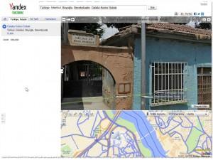 Скриншот турецких Яндекс.Карт. Арка в районе Фатих