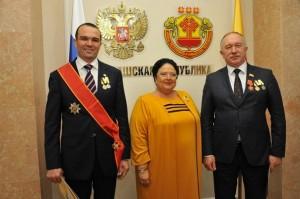 Мария Романова с первыми лицами Чувашской Республики. XXI век