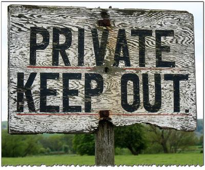 Приватность. Держитесь подальше