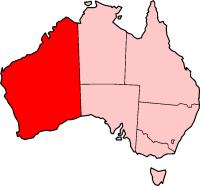 WA in Australia / Западная Австралия на карте Австралии